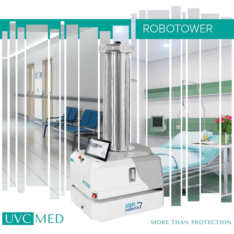 Für Schule, Krankenhaus, Arztpraxis: Desinfektionsroboter entkeimen Luft und Flächen