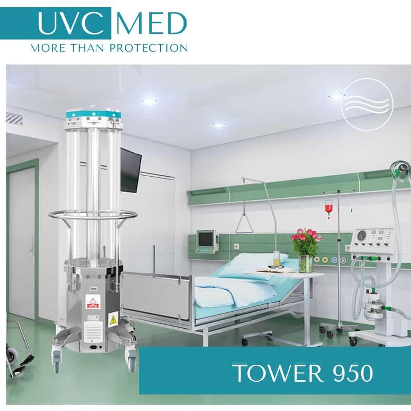 Keimbelastung in Krankenzimmern wirksam senken mit UV Desinfektionsrobotern